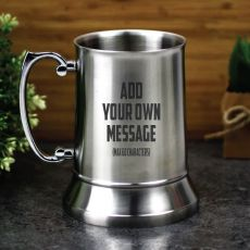 Custom Engraved Stainless Steel Beer Stein - Your Design