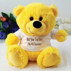 Custom Text T-Shirt Bear - Yellow