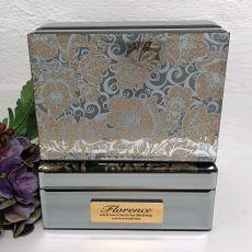 30th Birthday Jewellery Box Mirrored Golden Glitz