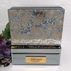 Aunt Jewellery Box Mirrored Golden Glitz