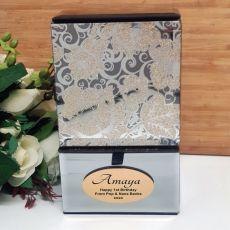 1st Birthday Mirrored Trinket Box- Golden Glitz
