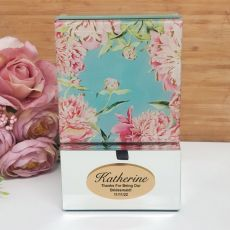 Bridesmaid Mirrored Trinket Box- Peony