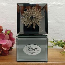 Grandma Mini Mirrored Trinket Box - Gerbera