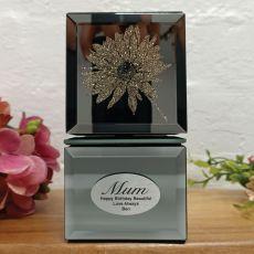 Mum Mini Mirrored Trinket Box - Gerbera