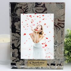 Personalised 18th Frame 5x7 Photo Glass Golden Glitz
