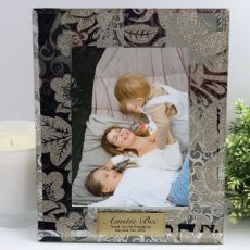 Aunt Personalised Frame 5x7 Photo Glass Golden Glitz