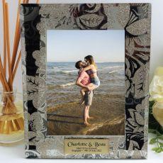 Personalised Engagement Frame 5x7 Photo Glass Golden Glitz