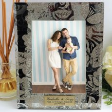 Godparent Personalised Frame 5x7 Photo Glass Golden Glitz