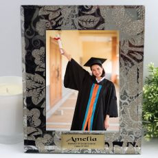 Graduation Personalised Frame 5x7 Photo Glass Golden Glitz