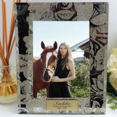 Personalised Pet Frame 5x7 Photo Glass Golden Glitz