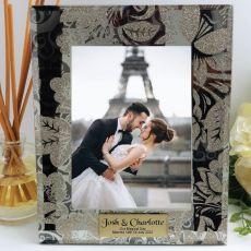 Personalised Wedding Frame 5x7 Photo Glass Glitz