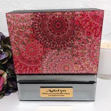 80th Birthday Mirrored Jewellery Box Pink Passion