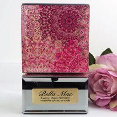 Personalised Birthday Mirrored Trinket Box- Pink Passion