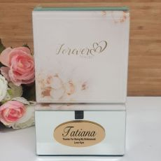 Forever Always Bridesmaid Mirrored Trinket Box