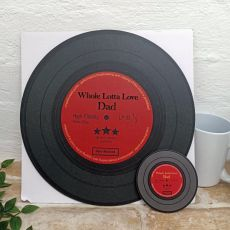 Dad Replica Vinyl Record LED Wall Hanging & Coaster - Lotta Love