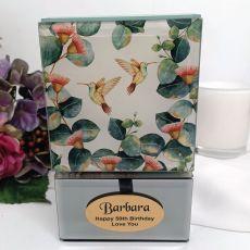 50th Birthday Glass Trinket Box - Gum Tree