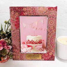 40th Birthday Photo Frame 5x7 Pink Passion