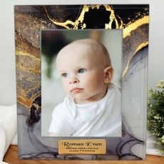 Christening Personalised Photo Frame 5x7 Treasured Cove