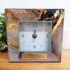 Personalised Glass Desk Clock - Treasure Trove