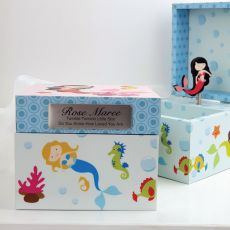 Personalised Mermaid Music Box