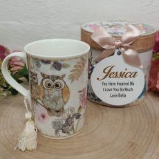 Mug with Personalised Gift Box - Owl