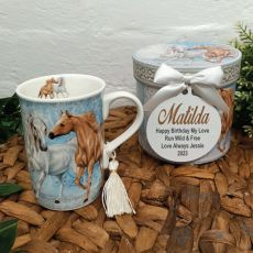 Birthday Mug with Personalised Gift Box - Horse