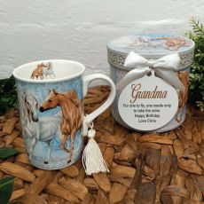 Grandma Mug with Personalised Gift Box - Horse