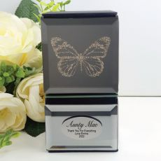 Aunt Mini Mirrored Trinket Box - Butterfly