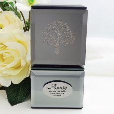 Aunt Mini Mirrored Trinket Box - Tree