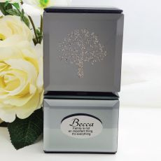 Personalised Mini Mirrored Trinket Box - Tree