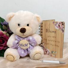 Mum Bear, Notepad & Pen Gift Set