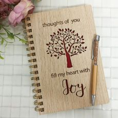 Heart with Joy Tree of Life Journal & Pen