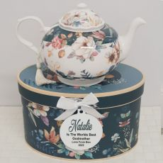 Teapot in Personalised Godmother Gift Box - Bouquet
