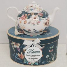 Teapot in Personalised Nan Gift Box - Bouquet