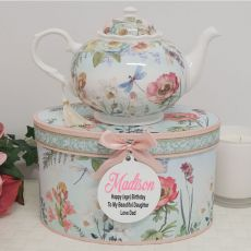 Teapot in Personalised Birthday Gift Box - Poppy