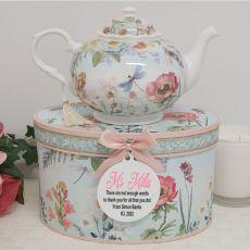 Teapot in Personalised Teacher Gift Box - Poppy