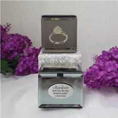 Bridesmaid Mini Ring Trinket Box