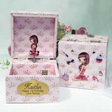 1st Birthday Music Box - Girl Chic