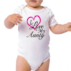 I Love My Aunty Baby Bodysuit