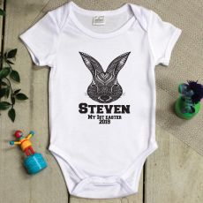 Personalised 1st Easter Bodysuit - Aztec Bunny