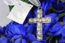 Wedding Bouquet Charm Diamante Cross