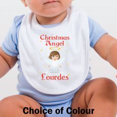 Personalised Christmas Angel Baby Bib
