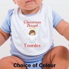 Personalised Christmas Angel Baby Bib