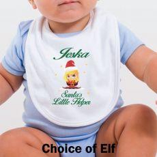 Personalised Christmas Baby Bib-Santa's Helper