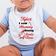 I saw Mummy Personalised Christmas Bib