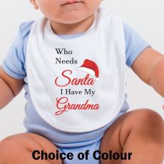 Personalised Christmas Baby Bib - Who Needs Santa