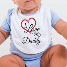 I Love My Daddy Baby Bib