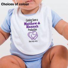 Personlised Baby Announcement Bib