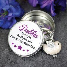 Personalised Volunteer Keyring Gift - Bird