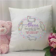 Personalised  Cushion Cover - Unicorn